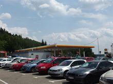 Oprava izolace ploché střechy čerpací stanice Shell Velké Meziříčí
