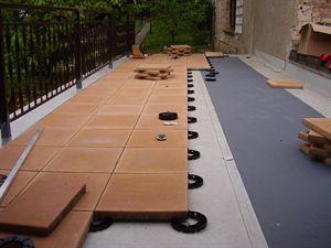 Pokládka betonové dlažby na terasu